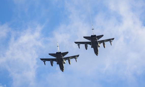 RAF Flyover at the Belfast Tattoo takes place in the SSE Arena on August 31st 2017 (Photo by Kevin Scott / Belfast Telegraph)