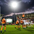 Guinness PRO14, Kingspan Stadium, Belfast 1/9/2017 Cheetahs' Reniel Hugo wins a line out Mandatory Credit ©INPHO/James Crombie