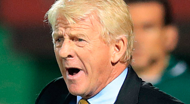 Happy man: Scotland boss Gordon Strachan