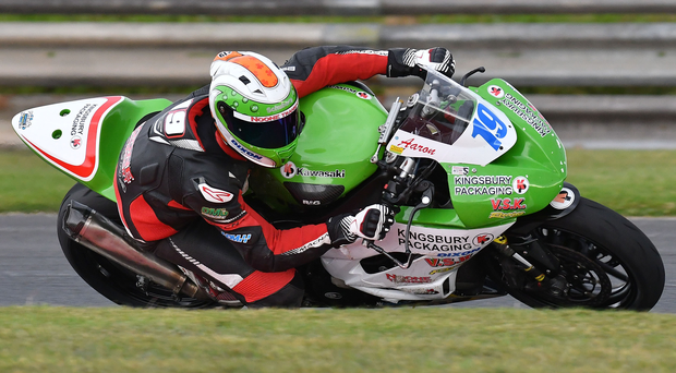 Top of the podium: Aaron Clifford powered to two victories in the Supersport races. Photo: Rowland White PressEye
