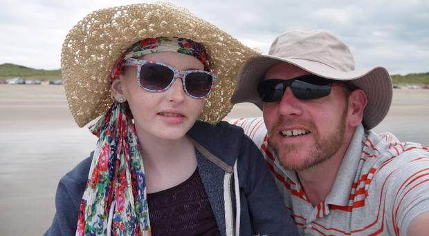 Anna with her father, Randal