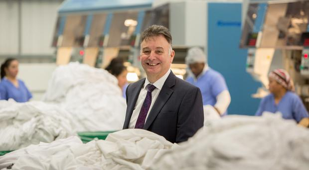 Johnson Service Group chief executive Chris Sander, who is to retire after 33 years at the dry-cleaning, workwear and linen firm. Daniel Jones/Johnson Service Group/PA Wire