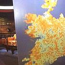How the map of the island of Ireland appeared on The Late Late Show.