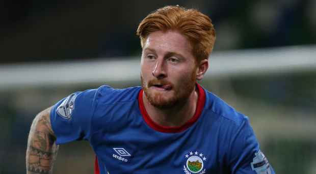 Louis Rooney netted for Linfield during their last round win over Spartans.