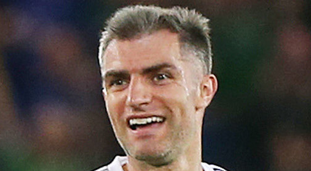 Smiles better: Aaron Hughes enjoying win over Czechs