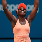 I feel good: Sloane Stephens after beating Anastasija Sevastova in the quarter-finals last night