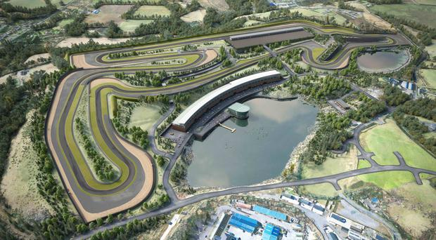 An artist's sketch of the new proposed motorsport track to be built in Coalisland