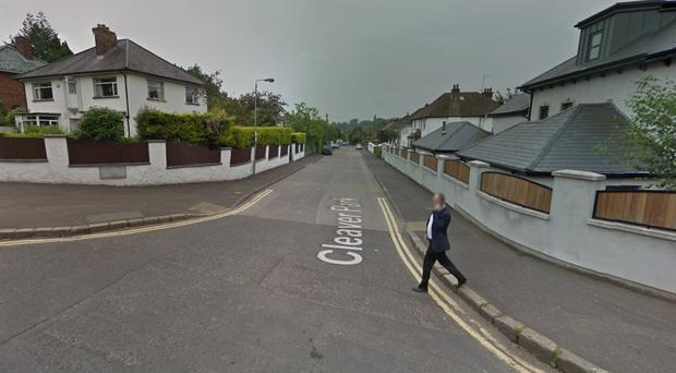 The incident happened in Cleaver Park off the Malone Road in Belfast. Pic Google Maps