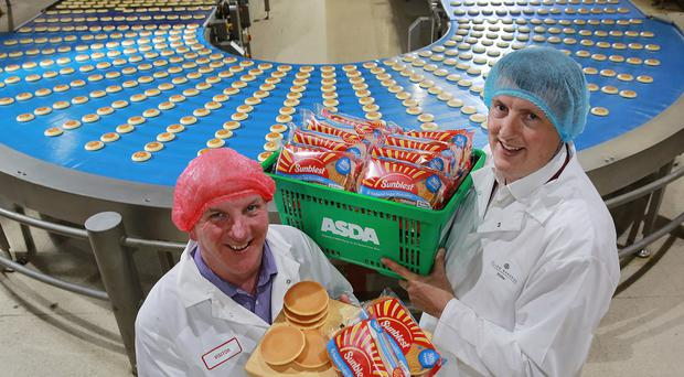Brian Conway (left), Asda buying manager Northern Ireland, with Eugene Wallace, Allied Bakeries national account manager