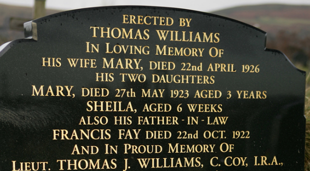 The grave of Tom Williams who was executed in prison