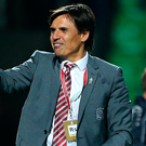 Not giving up: Chris Coleman is hoping for Serbia to slip up. Photo: Steven Paston/PA