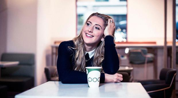 Gold standard: Laura Kenny at a Pod Food store