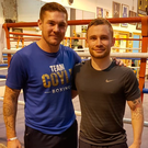 New partnership: Carl Frampton has hired Jamie Moore as his trainer.