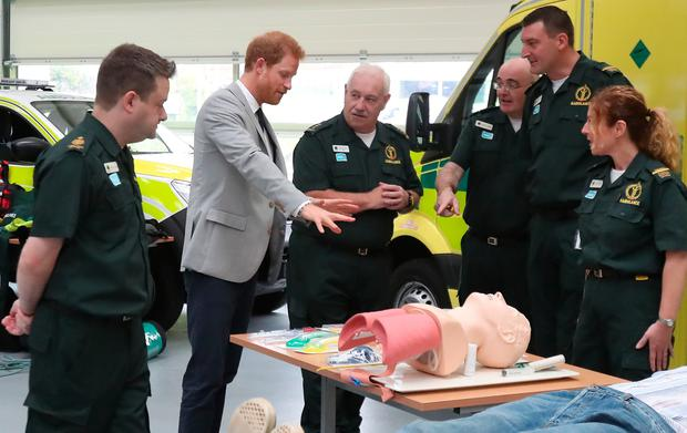 Prince Harry opens ambulance station in Ballymena