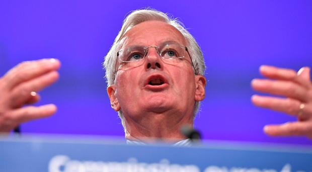 European Union Chief Negotiator in charge of Brexit negotiations with Britain Michel Barnier addresses the media on the publication of