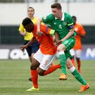 Republic of Ireland under age international Conor Masterson has been included in Liverpool's Champions League squad.