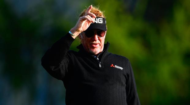 Top act: Miguel Angel Jimenez is rolling back the years