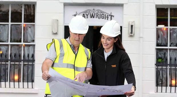 Laura McGillion, group marketing manager for 1 Oak Leisure Ireland, and Dermot Doyle survey plans for the new venue.