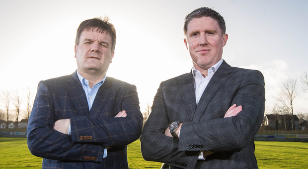 Big plans: Secretary Declan Brennan (left) and Chairman Michael Briody. Photo: Ryan Byrne/INPHO