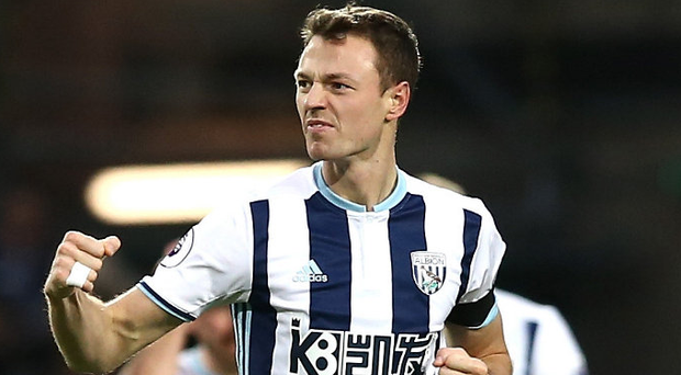 Club call: Jonny Evans is back in the West Brom squad after his heroics for Northern Ireland