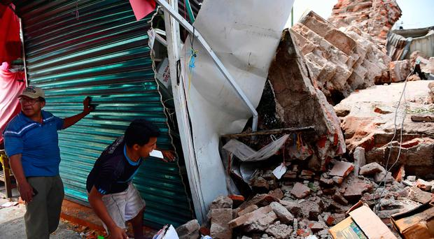 View of damages caused by the 8.2 magnitude earthquake that hit Mexico's Pacific coast, in Juchitan de Zaragoza, state of Oaxaca on September 8, 2017 AFP PHOTO / RONALDO SCHEMIDTRONALDO SCHEMIDT/AFP/Getty Images