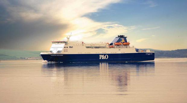 The number of people making the ferry crossing between Larne in Northern Ireland and Cairnryan in Scotland has hit a 14-year high.