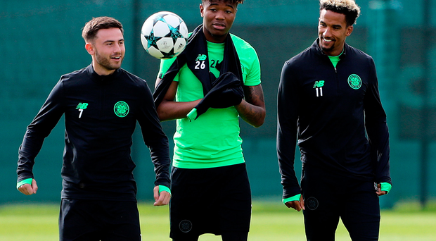 Ball boys: Patrick Roberts, Kundai Benyu and Scott Sinclair