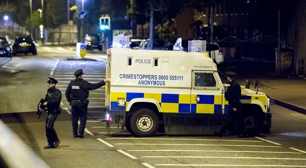 Police and ATO deal with a suspect car on North Queen Street in Belfast on 12th September 2017 (Photo by Kevin Scott / Belfast Telegraph)