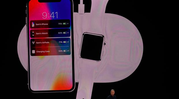 Apple senior vice president of worldwide marketing Phil Schiller introduces AirPower during an Apple special event at the Steve Jobs Theatre on the Apple Park campus on September 12, 2017 in Cupertino, California. (Photo by Justin Sullivan/Getty Images)