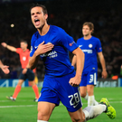 Three and easy: Chelsea's Cesar Azpilicueta celebrates scoring his side's third goal of the game. Photo: John Walton/PA