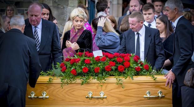 Shannon Campbell The funeral of Strangford College teaching assistant Sherry Campbell takes place in Bangor on September 14th 2017 (Photo by Kevin Scott / Belfast Telegraph)