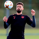 Arsenal's Olivier Giroud during training at London Colney. Photo: Adam Davy/PA