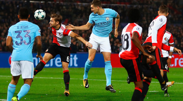 Head boy: John Stones scores for City