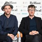 PACEMAKER BELFAST 14/09/2017 Actors From L-R Tom Vaughan Lawlor (stars as Larry Marley) and Barry Ward (prison warder) in Belfast for the premiere of the MAZE at Movie House Cinema on the Dublin Road. The premiere of new film 'MAZE' starring Tom Vaughan-Lawlor and directed by Stephen Burke takes place in Belfast on Thursday evening in association with the Belfast Film Festival. The film, inspired by the real-life story of the 1983 Maze prison break-out orchestrated by Larry Marley, saw 38 IRA prisoners attempt to escape from one of the most high-security prisons in Europe. Photo: Colm Lenaghan/Pacemaker Press
