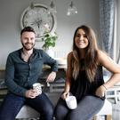 At home: Nathan Hanley and wife Rebecca