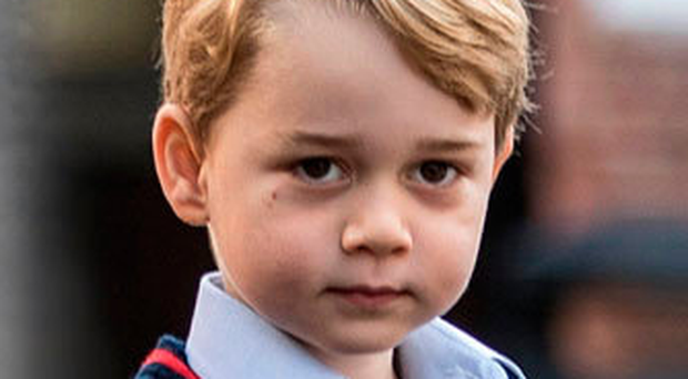 Prince George was back at school yesterday