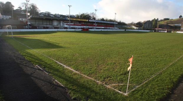 Pitching in: Multi-millionaire businessman Kenny Bruce's plans to invest in Larne FC are under way.