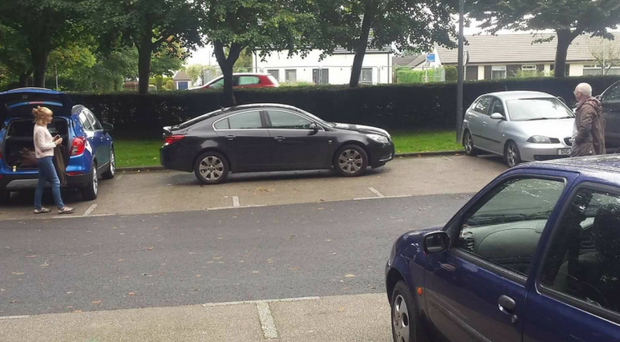 Car parked across three spaces at Antrim Castle is shamed on Facebook.