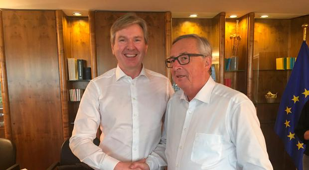 INM editor-in-chief Stephen Rae with Jean Claude Juncker