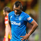 Stalemate: Alfredo Morelos shows his frustration as Gers are held