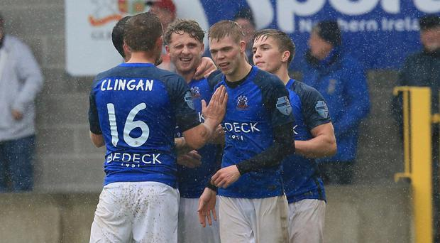 Glenavon had much to celebrate after they thumped a struggling Cliftonville.