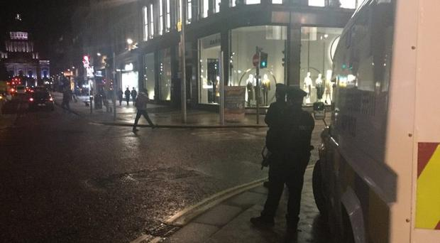 Police in Northern Ireland have stepped up patrols in central Belfast following terrorist attacks in the United Kingdom. Source: PSNI