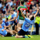 Three in a row: Dublin's Kevin McManamon celebrates All Ireland glory