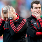 Heartbreak: Mayo manager Stephen Rochford can't hide his despair after tasting defeat at Croke Park