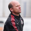Under pressure: Cliftonville manager Barry Gray