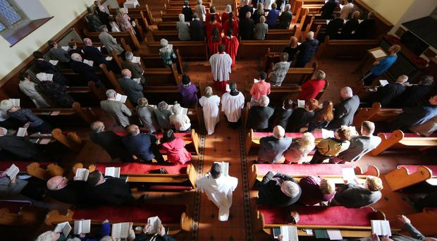 The service at Christ Church, led by Archdeacon Miller
