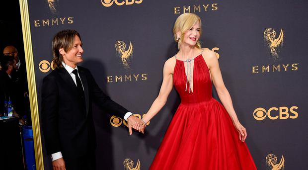 Keith Urban and Nicole Kidman attend the 69th Annual Primetime Emmy Awards at Microsoft Theater on September 17, 2017 in Los Angeles, California. (Photo by Frazer Harrison/Getty Images)