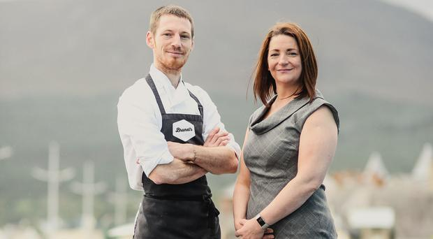 Head chef and director of Brunel's, Paul Cunningham, with newly appointed co-director and general manager, Fiona Davey