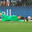 Floored: Germany goalkeeper Manuel Neuer is likely to miss the rest of 2017.