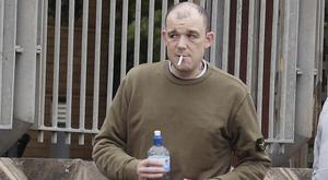 Ballyclare man Thomas McMullan leaves Antrim Magistrates Court on Tuesday where he was given Probation and fined for 'air rage'. Picture: Mark Jamieson